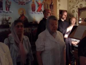 Византийский хор и прихожане нашего храма